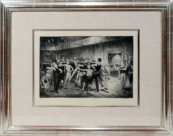 "062008: GEORGE BELLOWS, LITHOGRAPH, NO. 11, 11"" X 17"","