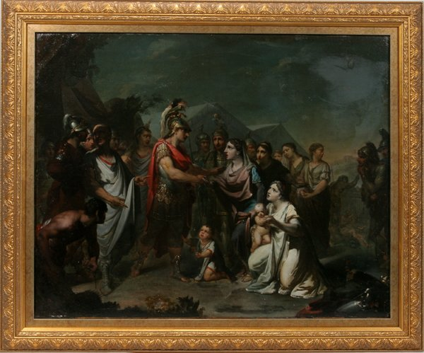 062010: FRENCH NEOCLASSICAL OIL ON CANVAS, C. 1780-1820