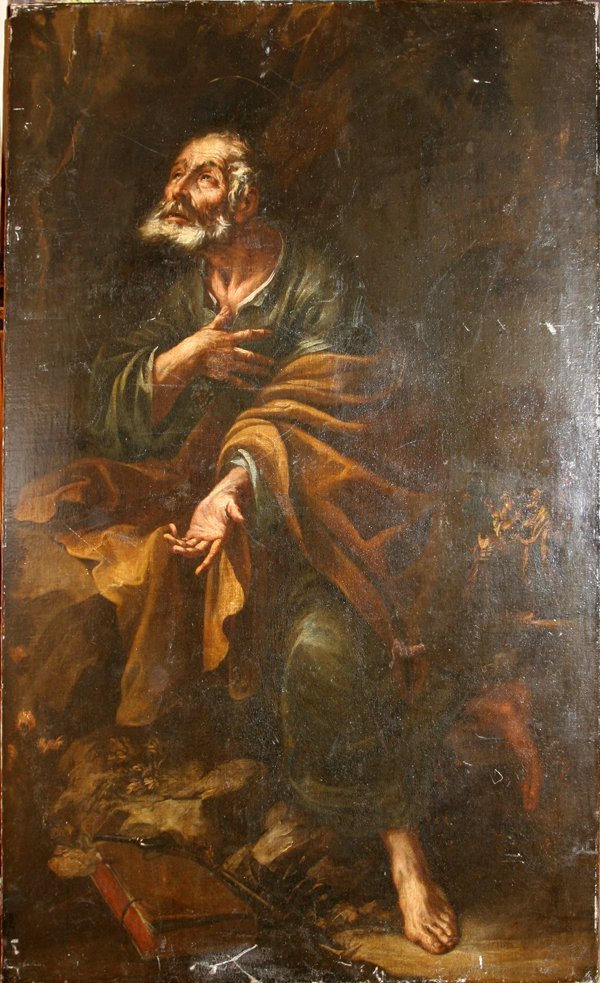 062013: SPANISH OR ITALIAN OLD MASTER OIL ON CANVAS,