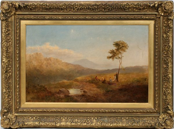 062014: COPLEY FIELDING, OIL/CANVAS PICNIC IN HIGHLANDS