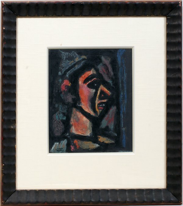 "062020: GEORGES ROUAULT, OIL ON PAPER, 10 1/2"" X 8 1/2"""