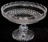 062359 WATERFORD CUT CRYSTAL COMPOTE H 8 DIA 12