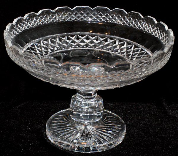 """062359: WATERFORD CUT CRYSTAL COMPOTE, H 8"""", DIA 12"""""""