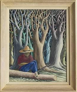 """JEAN ENGUERRAND GOURGUE """"THE WOODCUTTER"""""""