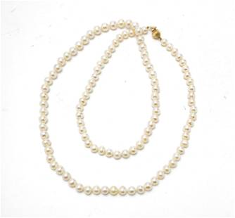"""PEARL NECKLACE L 30"""""""