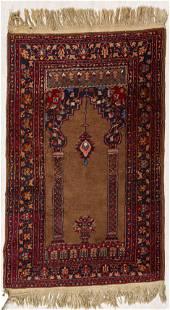 PERSIAN HANDWOVEN WOOL PRAYER RUG