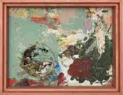 MEL ROSAS OIL AND MIXED MEDIA ON BOARD, 1991