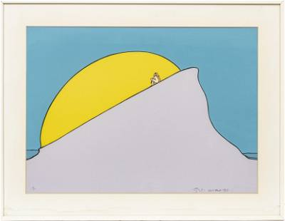"""PETER MAX """"BEING ONE WITH THE SUN"""""""