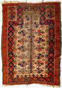 NORTHEAST PERSIAN BALOUCH WOOL PRAYER RUG
