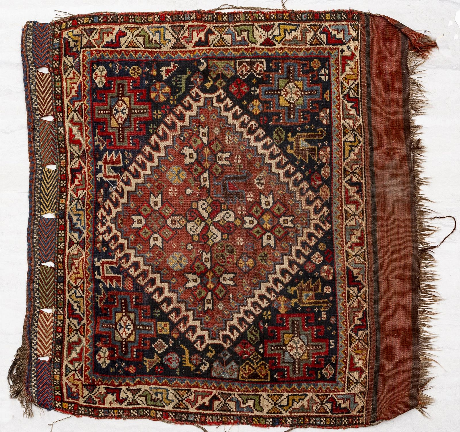 ANTIQUE SOUTHWEST PERSIAN KHAMSEH WOOL BAG FACE