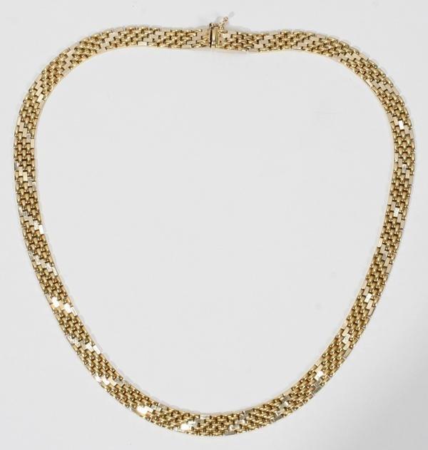 """070007: 14 KT GOLD NECKLACE, 40 GRAMS, L 17"""""""