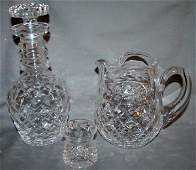 070380 WATERFORD CUT CRYSTAL DECANTER PITCHER  VASE