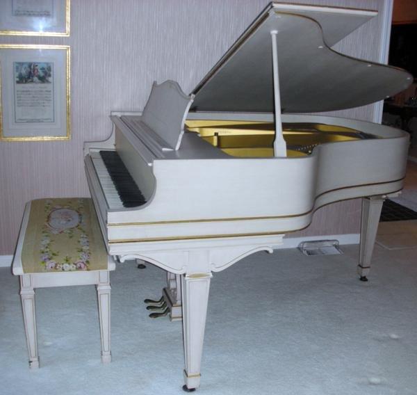 """071020: CHICKERING GRAND PIANO, #160970, L 65"""","""