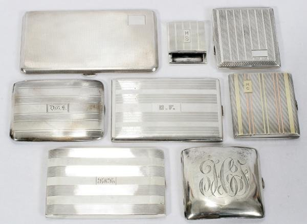 072012: AMERICAN & BRITISH STERLING CIGARETTE CASES &