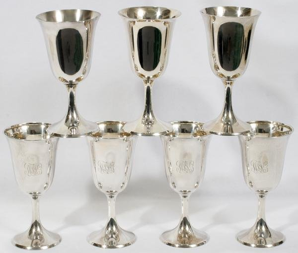 072013: MANCHESTER SILVER CO. STERLING GOBLETS & ONE