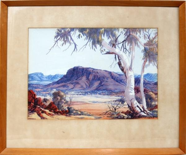 "072023: ALBERT NAMATJIRA, WATERCOLOR, 10"" X 14"" SIGHT;"
