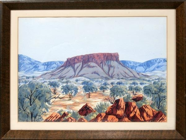 "072024: KEITH NAMATJIRA,, WATERCOLOR ON PAPER 10"" X 14"""