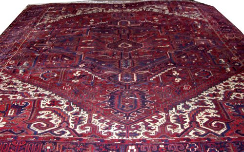 050004: HERIZ PERSIAN WOOL CARPET 10' X 12' 10""