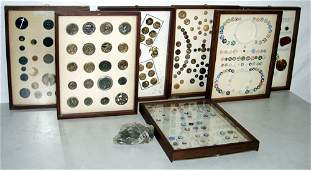 050136: VICTORIAN & AMERICAN ANTIQUE BUTTON COLLECTION