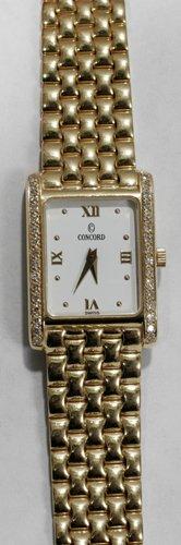 051005: CONCORD, GOLD & DIAMOND LADY'S WRISTWATCH