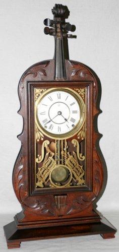 051022: SETH THOMAS, AMERICAN WALNUT 8-DAY SHELF CLOCK