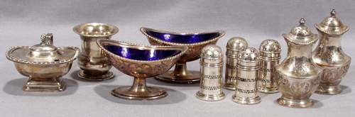 051402: STERLING SILVER & PLATE TABLEWARE GROUPING