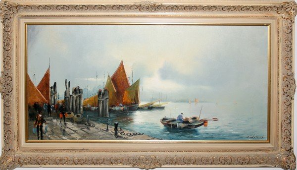 """080010: OIL ON CANVAS, SIGNED, MID 20TH CENTURY, 20"""""""