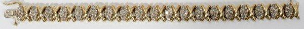 "080019: 14 KT YELLOW GOLD & DIAMOND BRACELET, L 7"""