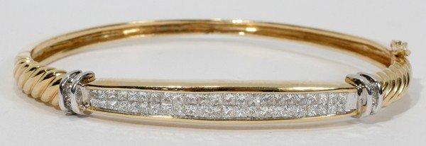 080020: 14KT GOLD & DIAMOND BRACELET