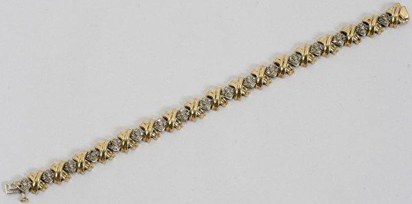 080021: 14KT YELLOW GOLD & DIAMOND BRACELET