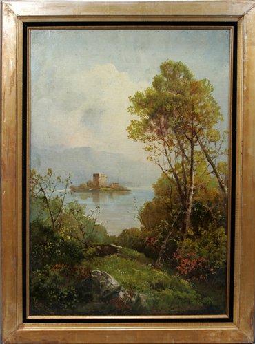 052018: G. H. ANDREWS, OIL ON CANVAS, LANDSCAPE