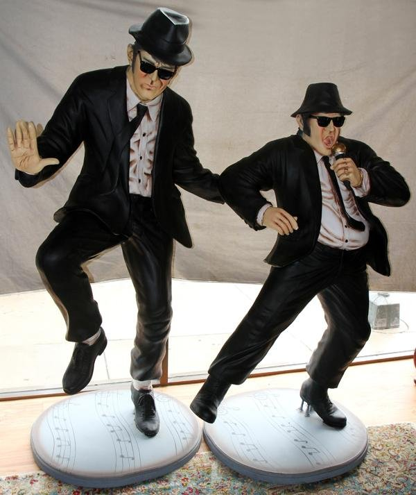 090014: 'THE BLUES BROTHERS-JAKE & ELWOOD' SCULPTURES,