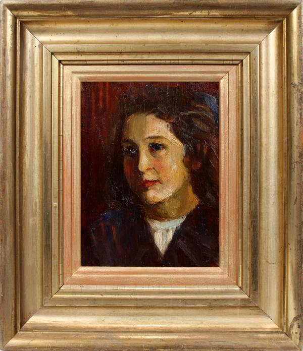 """092023: ANDRE DERAIN OIL ON WOOD PANEL, 9 1/2"""" X 7"""""""