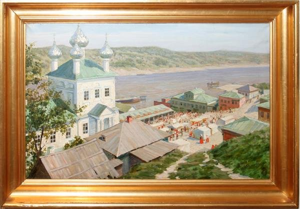 "092024:V. TKACHENKO, OIL ON CANVAS 17"" X 26"""