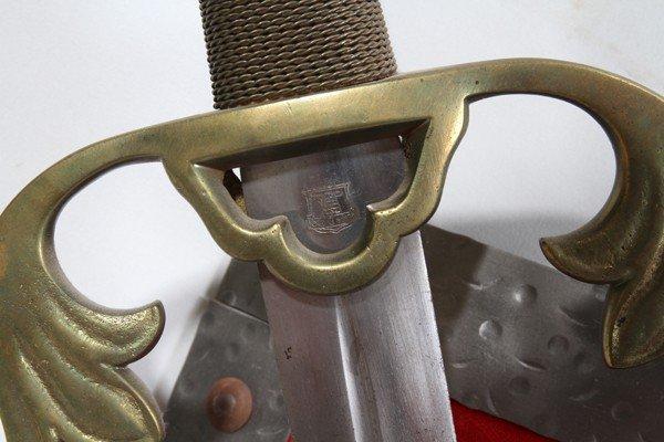 OLD CASTLE CEREMONIAL SWORDS & SHIELD, 3 PCS - 2