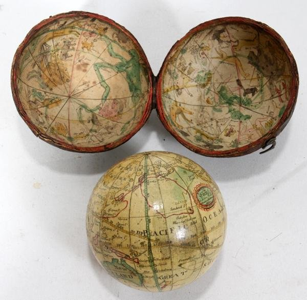 GEORGE III POCKET GLOBE BY JOHN MILLER, 1793