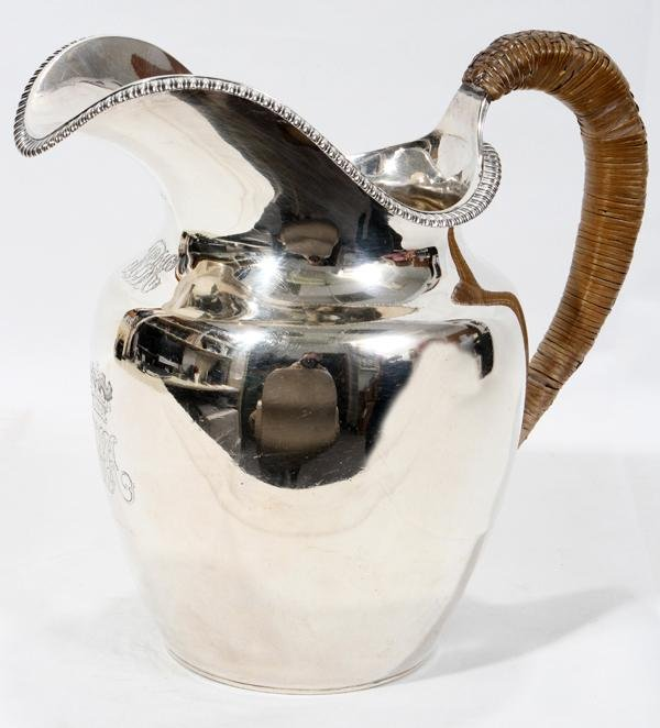 GEORGE III STERLING WATER PITCHER, 1818-19,
