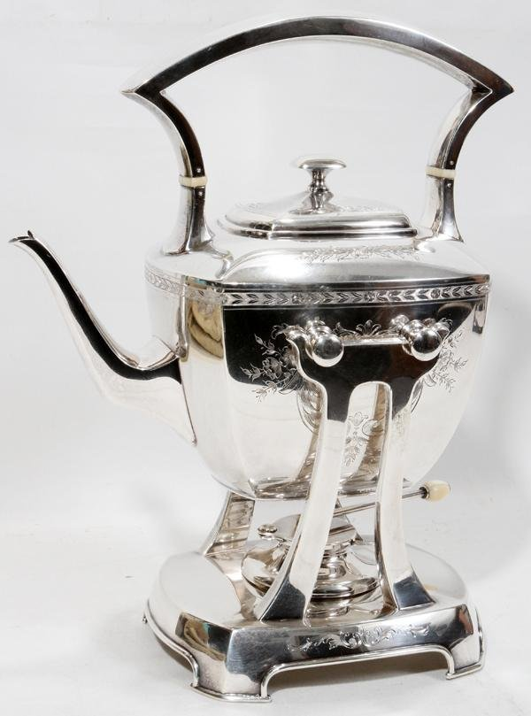 WHITING MFG. CO. STERLING HOT WATER KETTLE