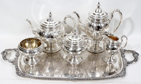 TOWLE 'ROYAL WINDSOR' STERLING TEA & COFFEE SET