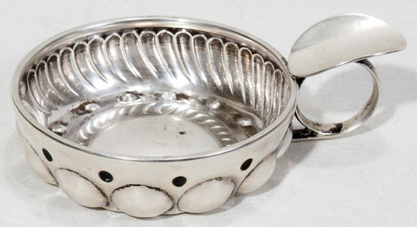 FRENCH (.950) SILVER WINE TASTER, 19TH C.,