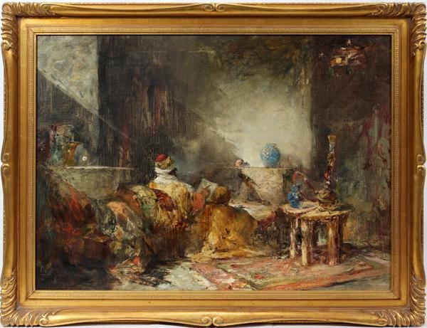 102003: DOUGLAS ARTHUR TEED, OIL ON CANVAS LAID DOWN,