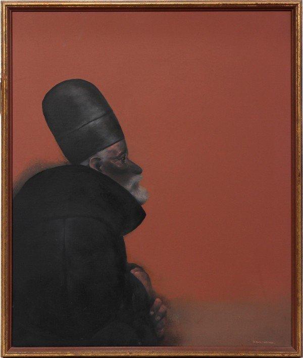 """102006: RAFAEL CORONEL (1932-), ACRYLIC ON CANVAS, 28"""""""