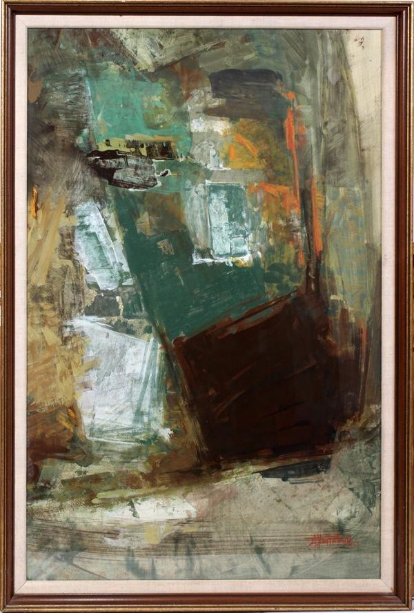 """102019: ALEX (ALECOS) KONTOPOULOS, GOUACHE, 1963, 36"""""""