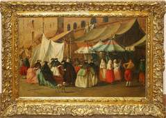 102021 SPANISH SCHOOL OIL ON CANVAS 19TH20TH C