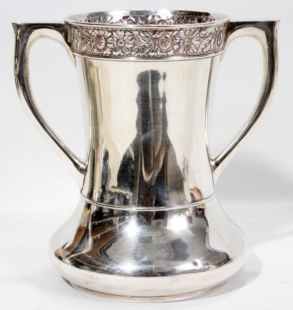 "102305: GORHAM STERLING SILVER VASE, 1891, H 7"", W 7"""