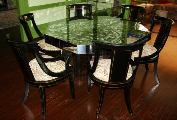 110004:PAUL EVANS STAINLESS STEEL CLAD TABLE