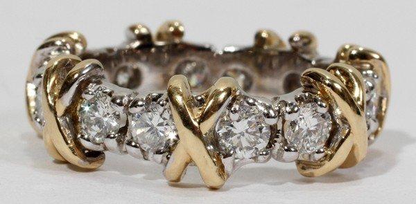 110014: 2.00 CT. ETERNITY DIAMOND 'X' STYLE BAND