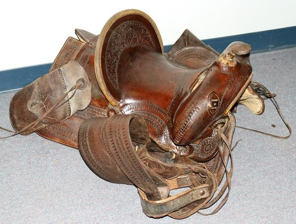 110273: OTTO F. ERNST, MEN'S WESTERN SADDLE, 1914