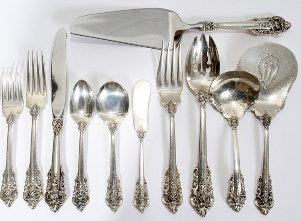 111017: WALLACE 'GRAND BAROQUE' STERLING FLATWARE, 87