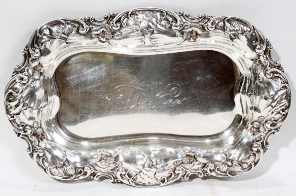 111018: WM. WISE & SON STERLING DISH, EARLY 20TH C.,